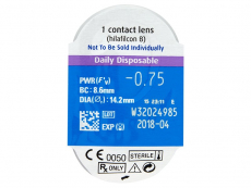 SofLens Daily Disposable (90komleća) - Pregled blister pakiranja