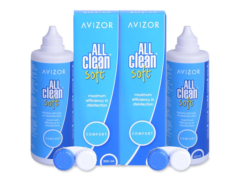 Otopina Avizor All Clean Soft 2x350 ml  - Ekonomično duplo pakiranje otopine