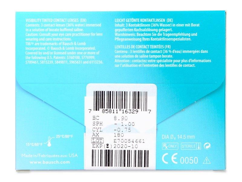 PureVision 2 for Astigmatism (3komleća) - Pregled parametara leća