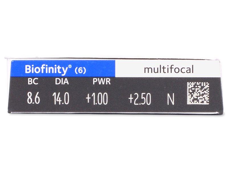 Pregled parametara leća - Biofinity Multifocal (6komleća)