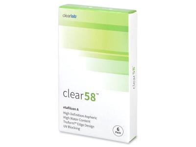 Dvotjedne kontaktne leće - Clear 58 (6komleća)