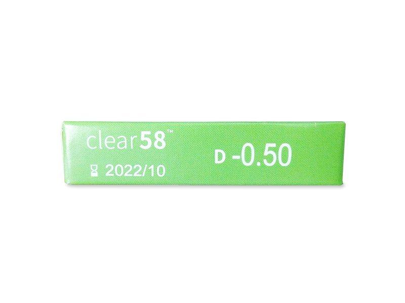 Pregled parametara leća - Clear 58 (6komleća)