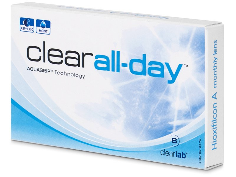 Clear All-Day (6 kom leća) - Mjesečne kontaktne leće