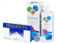 Frequency 55 (6 kom leća) + Gelone 360 ml
