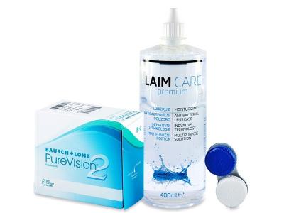 PureVision 2 (6 kom leća) + Laim-Care 400 ml