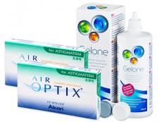 Air Optix for Astigmatism (2x3 kom leća) + Gelone 360 ml - Stariji dizajn