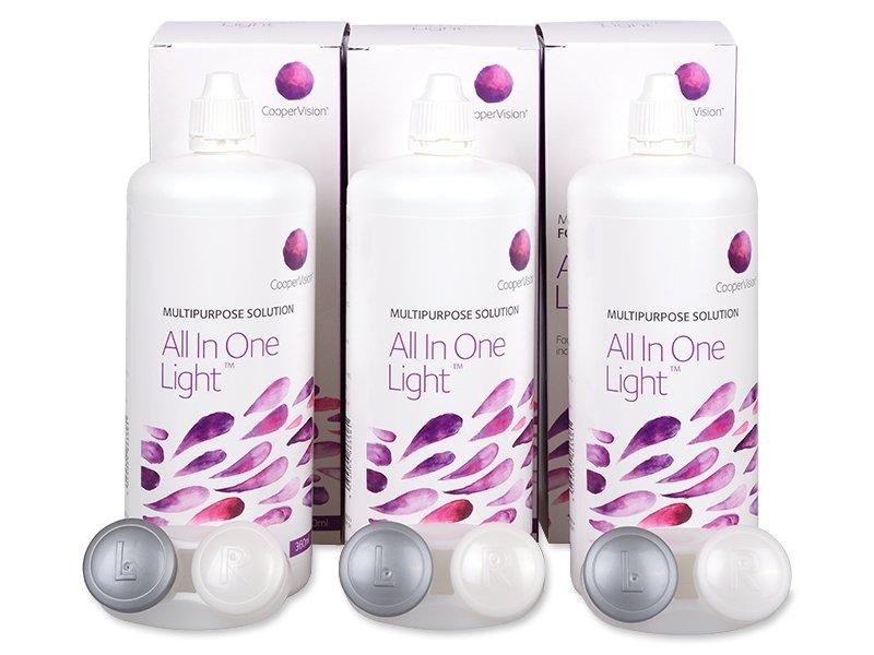 Ekonomično troduplo pakiranje otopine - Otopina All In One Light 3 x 360 ml