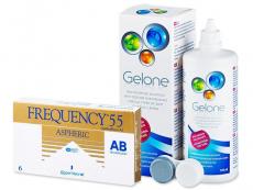Frequency 55 Aspheric (6 kom leća) + Gelone 360 ml