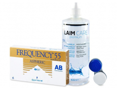 Frequency 55 Aspheric (6 kom leća) + Laim-Care 400 ml
