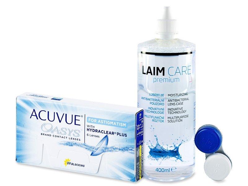 Acuvue Oasys for Astigmatism (6 kom leća) + Laim-Care 400 ml - Ponuda paketa