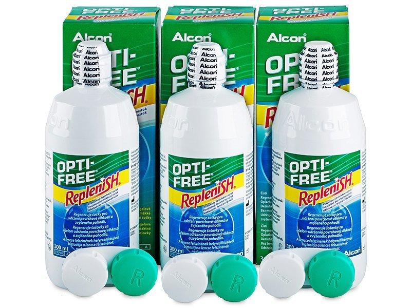 Otopina Opti-Free RepleniSH 3x300ml  - Ekonomično troduplo pakiranje otopine