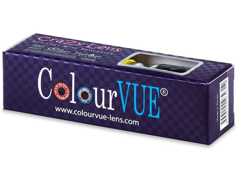 ColourVUE Crazy Lens - BlackOut - bez dioptrije (2 kom leća)