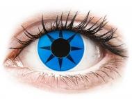 Plave kontaktne leće - nedioptrijske - ColourVUE Crazy Lens - Blue Star - bez dioptrije (2 kom leća)