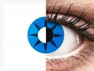 ColourVUE Crazy Lens - Blue Star - bez dioptrije (2 kom leća)