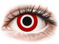 Crvene kontaktne leće - nedioptrijske - ColourVUE Crazy Lens - Bulls Eye - bez dioptrije (2 kom leća)