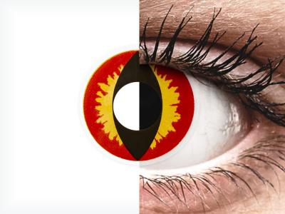 ColourVUE Crazy Lens - Dragon Eyes - bez dioptrije (2 kom leća)