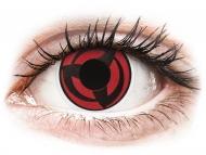 Crvene kontaktne leće - nedioptrijske - ColourVUE Crazy Lens - Kakashi - bez dioptrije (2 kom leća)