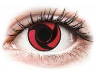 Crvene kontaktne leće - nedioptrijske - ColourVUE Crazy Lens - Mangekyu - bez dioptrije (2 kom leća)