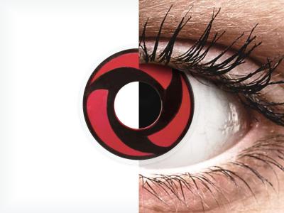 ColourVUE Crazy Lens - Mangekyu - bez dioptrije (2 kom leća)