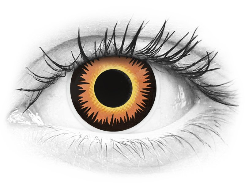 ColourVUE Crazy Lens - Orange Werewolf - bez dioptrije (2 kom leća)