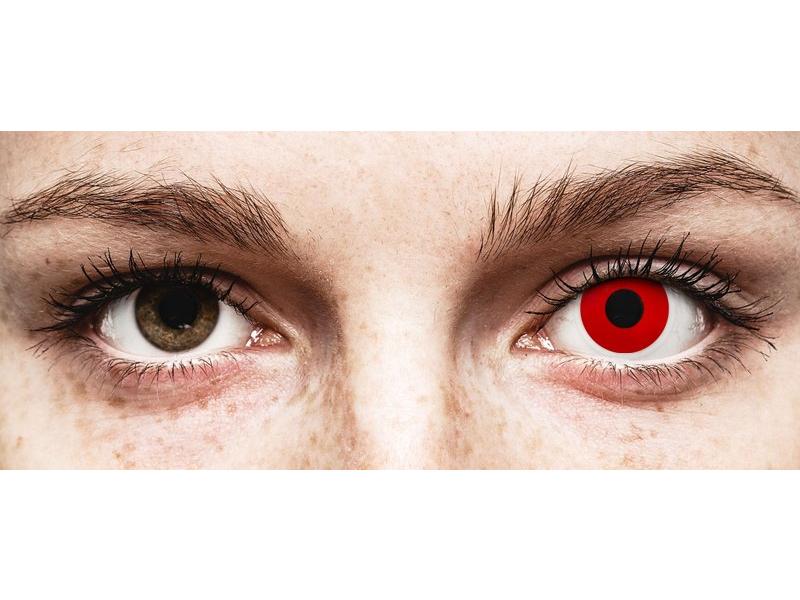 ColourVUE Crazy Lens - Red Devil - bez dioptrije (2 kom leća)