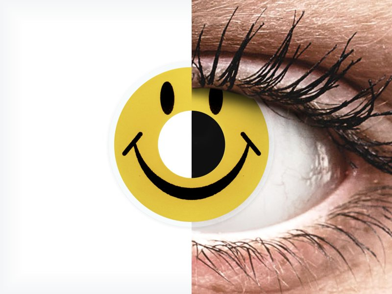ColourVUE Crazy Lens - Smiley - bez dioptrije (2 kom leća) - ColourVUE Crazy Lens - Smiley - bez dioptrije (2 kom leća)