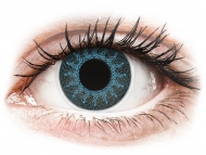 Plave kontaktne leće - nedioptrijske - ColourVUE Crazy Lens - Solar Blue - bez dioptrije (2 kom leća)