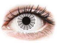 Kontaktne leće Maxvue Vision - ColourVUE Crazy Lens - Spider - bez dioptrije (2 kom leća)