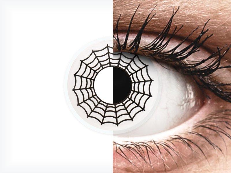ColourVUE Crazy Lens - Spider - bez dioptrije (2 kom leća)