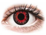 Crvene kontaktne leće - nedioptrijske - ColourVUE Crazy Lens - Volturi - bez dioptrije (2 kom leća)