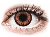 Crvene kontaktne leće - nedioptrijske - ColourVUE Crazy Lens - Vampire - bez dioptrije (2 kom leća)