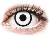 Kontaktne leće Maxvue Vision - ColourVUE Crazy Lens - White Zombie - bez dioptrije (2 kom leća)
