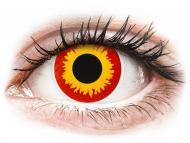 Crvene kontaktne leće - nedioptrijske - ColourVUE Crazy Lens - Wildfire - bez dioptrije (2 kom leća)