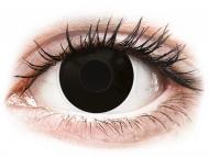 Crne kontaktne leće - dioptrijske - ColourVUE Crazy Lens - BlackOut - dioptrijske (2 kom leća)