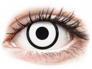 Bijele kontaktne leće - dioptrijske - ColourVUE Crazy Lens - White Zombie - dioptrijske (2 kom leća)