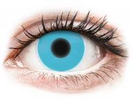 Plave kontaktne leće - nedioptrijske - ColourVUE Crazy Glow Blue - bez dioptrije (2kom leća)