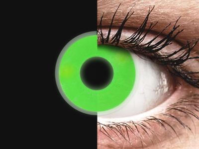 ColourVUE Crazy Glow Green - bez dioptrije (2kom leća)