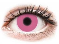 Roza kontaktne leće - bez dioptrije - ColourVUE Crazy Glow Pink - bez dioptrije (2kom leća)
