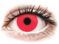 Crvene kontaktne leće - nedioptrijske - ColourVUE Crazy Glow Red - bez dioptrije (2kom leća)