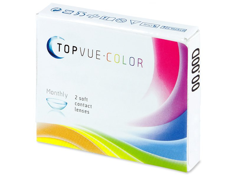 TopVue Color - Brown - nedioptrijske (2 kom leća) - Stariji dizajn