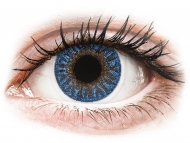 Plave kontaktne leće - nedioptrijske - TopVue Color - True Sapphire - nedioptrijske (2 kom leća)