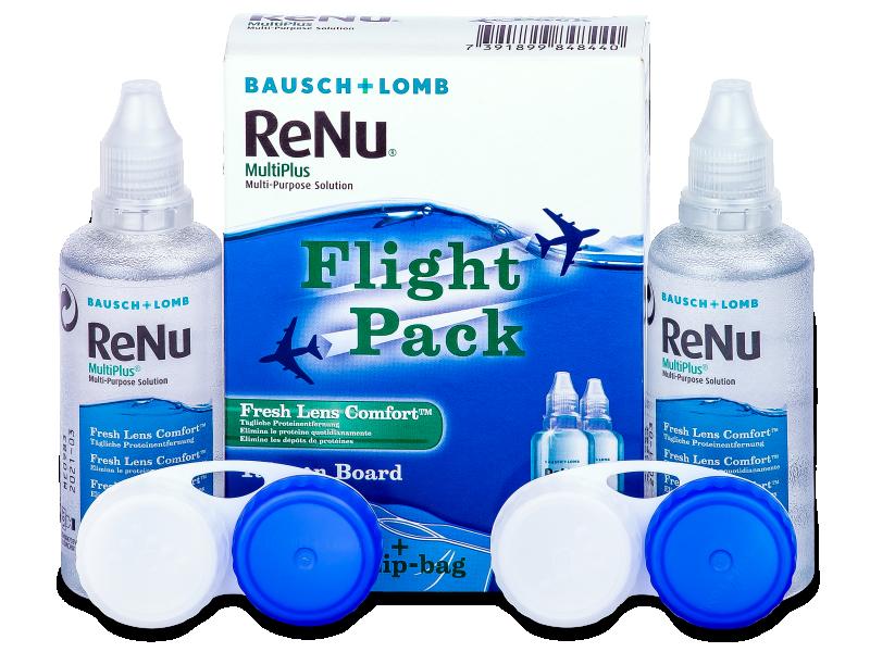 ReNu Multiplus flight pack 2 x 60 ml  - Otopina za čišćenje