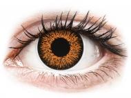 Smeđe kontaktne leće - dioptrijske - ColourVUE Glamour Honey - dioptrijske (2kom leća)