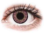 Roza kontaktne leće - bez dioptrije - ColourVUE Elegance Pink - bez dioptrije (2kom leća)