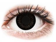 Leće u boji bez dioptrije - ColourVUE BigEyes Dolly Black - bez dioptrije (2kom leća)