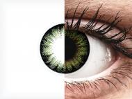ColourVUE BigEyes Party Green - bez dioptrije (2kom leća)