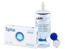 TopVue Monthly (6 kom leća) + Laim-Care 400 ml