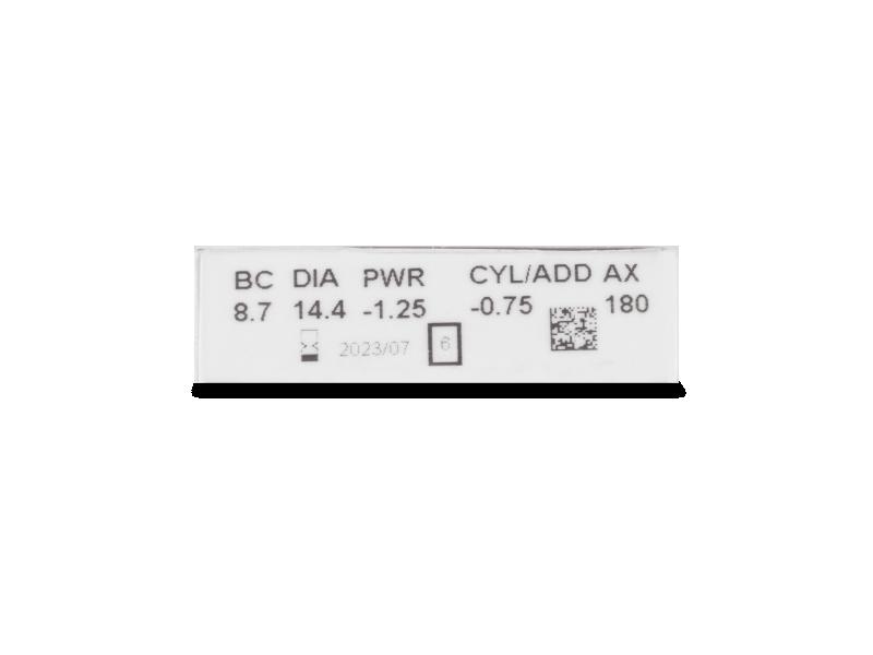 Pregled parametara leća - Clariti Toric (6 kom leća)