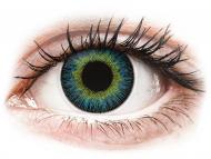 Plave kontaktne leće - dioptrijske - ColourVUE Fusion Yellow Blue - dioptrijske (2kom leća)