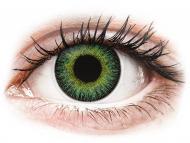 Zelene kontaktne leće - nedioptrijske - ColourVUE Fusion Green Yellow - bez dioptrije (2kom leća)